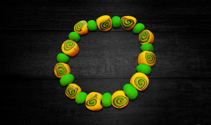 Pulsera tribal yellow-green